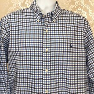 Men's Ralph Lauren Button-Down Shirt in Blue Check